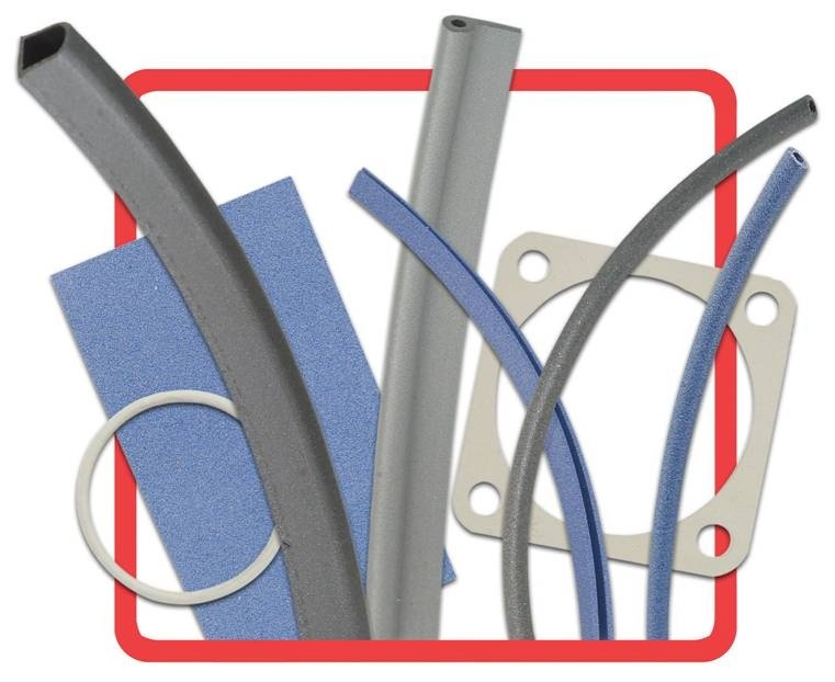 Conductive Silicone and EPDM RFI Gaskets O Rings D Rings  Waveguides RFI